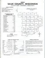 Index Map, Sauk County 1981